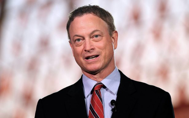 Gary Sinise is onstage