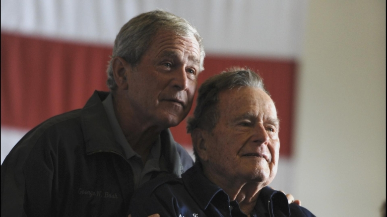 George W. Bush and George H.W. Bush