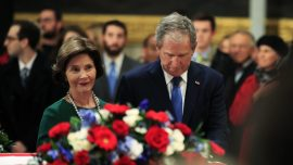 Laura Bush Shows New Son-in-Law White House, Meets With President Trump