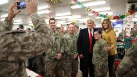 President Trump Meets With US Troops in Iraq on Christmas