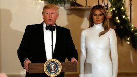 Trump, First Lady Host Lawmakers for Congressional Ball
