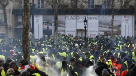 Riot in Paris: Armored Trucks, Tear Gas, Smashed Glass