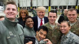 Trump Lands in Germany to Meet With Troops at Ramstein Air Base