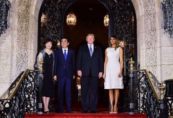 Trump-Melania-Japan-Prime-Minister-and-wife-600x412