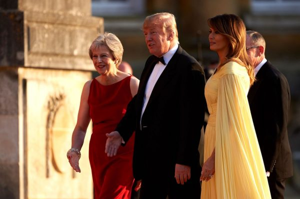 Trump-Melania-and-British-prime-minister-Theresa-May-600x399