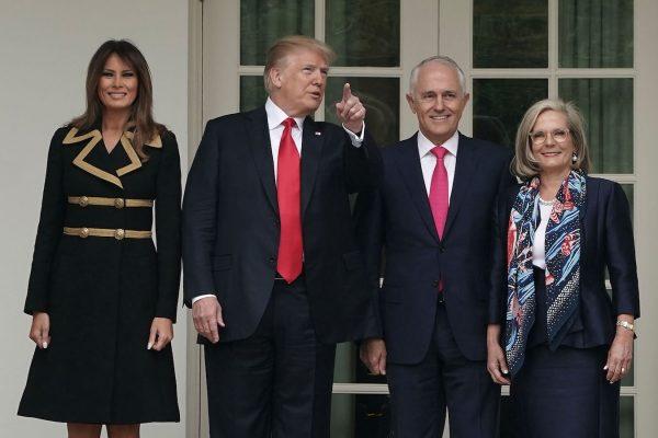 Trump-Melania-welcome-Australian-Prime-Minister-600x400