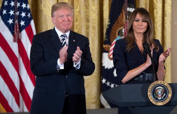 Trump-and-Melania-event-in-honor-of-Military-Mothers-and-Spouses-600x389