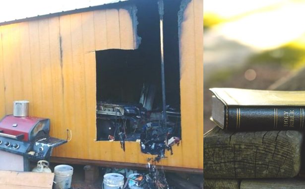 bible survives tiny house fire texas