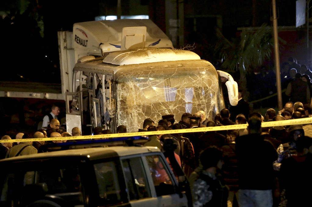 Egypt Explosion in Egypt near Giza