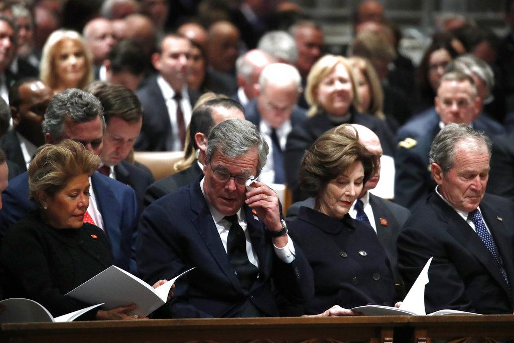 Jeb Bush at Bush funeral