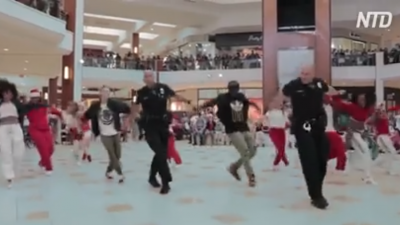 Police Joined Flash Mob in Florida Shopping Mall