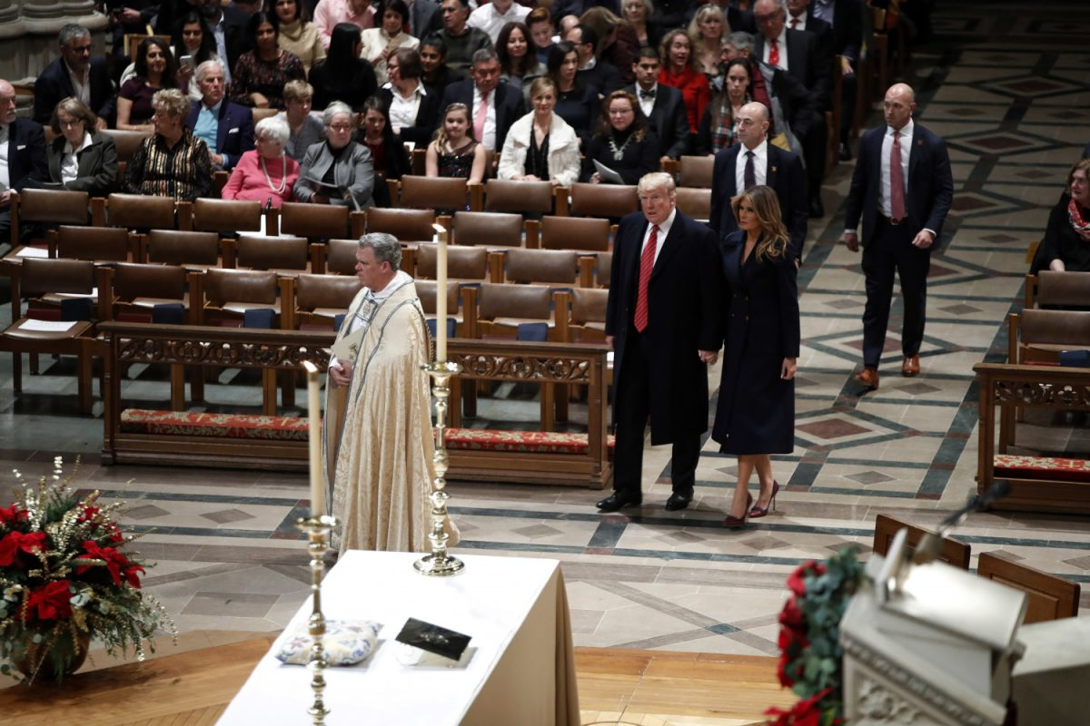president and first lady at national cathedral
