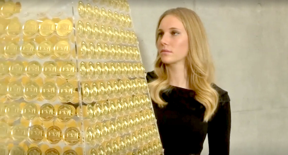 Europe's Most Expensive Christmas Tree Made Out Of Gold Coins