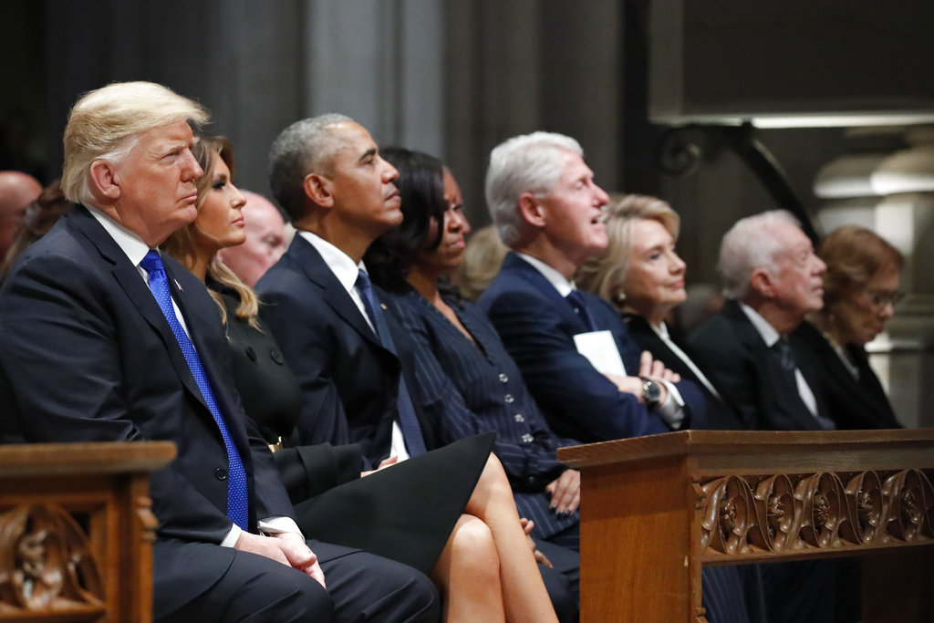 Trump at Bush funeral