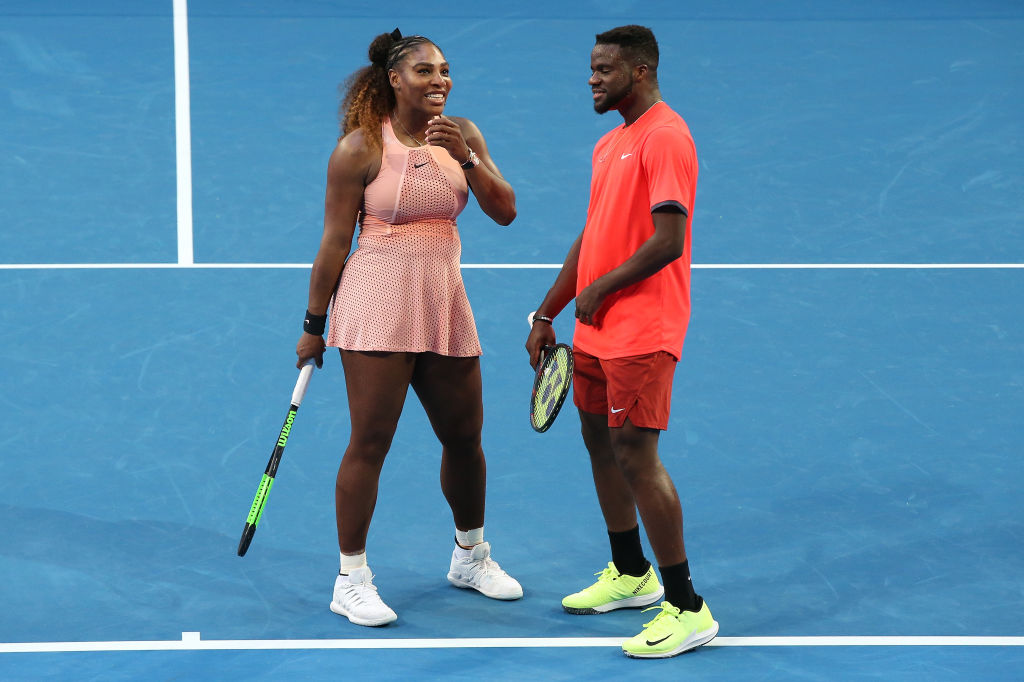 Serena Williams and Tiafoe