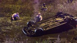 Near-Drowning Florida Woman Calls 911 From Sinking Overturned Car