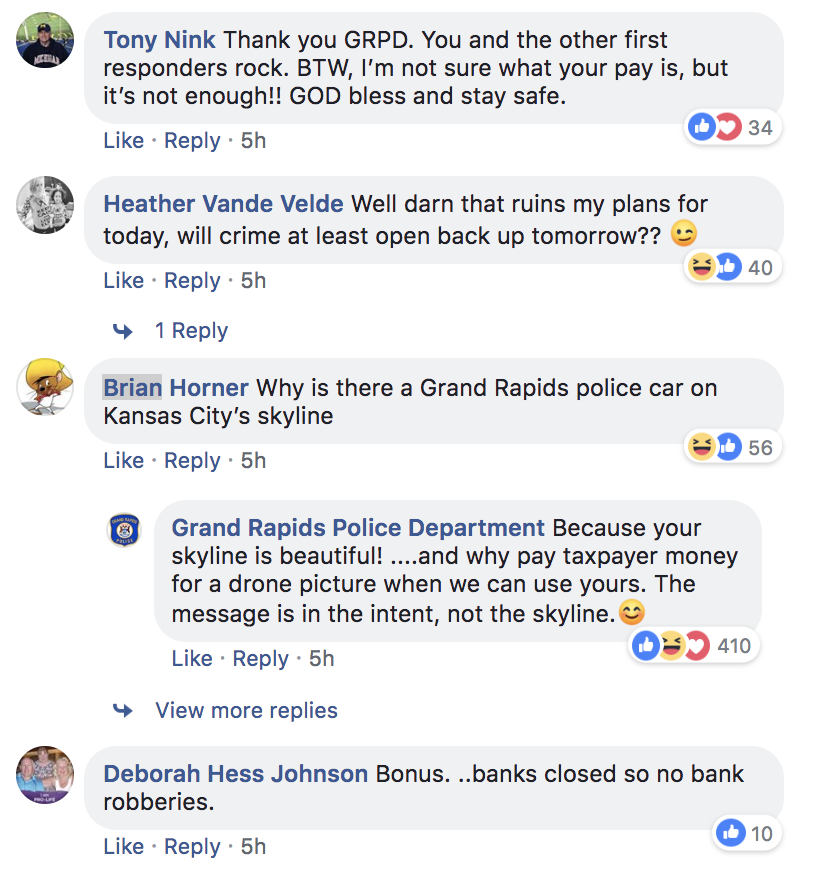 Screenshot of the post's comment section.