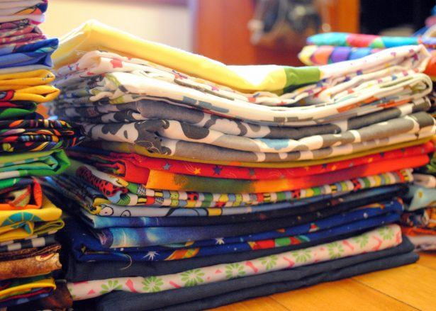 Folded pillowcases.