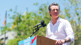 California Gov. Newsom's State Budget Poses to Create Water Tax