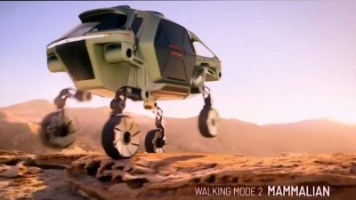 Hyundai Unveils Concept for 'Walking Car' on Legs