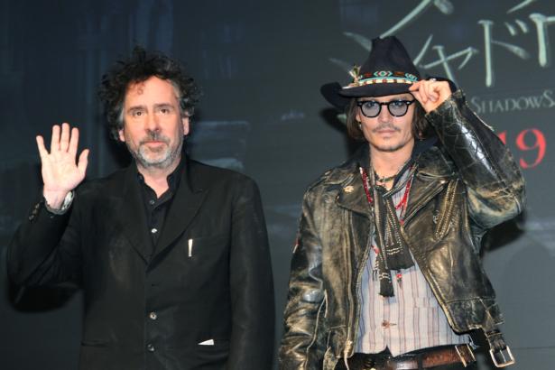 Johnny Depp and Tim Burton.