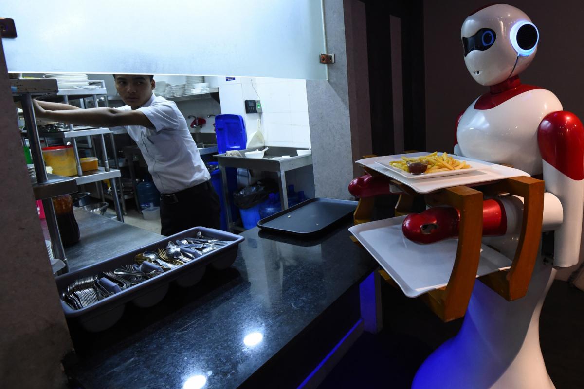 Nepali-made robot waiter