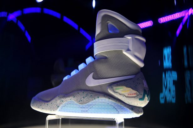 A detailed view of the Nike Mag