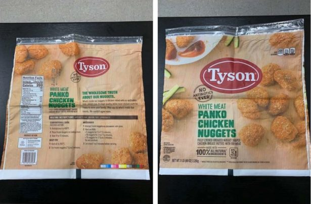 recalled chicken product