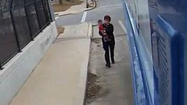 Video Shows Bus Driver Rescuing Young Barefoot Child From Freeway