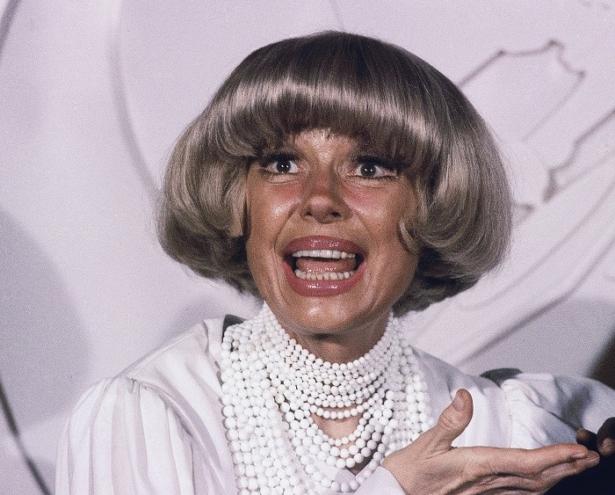 Actress Carol Channing at the Grammy Awards