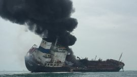 Oil Tanker Fire in Hong Kong Waters Kills One, Rescue Ongoing