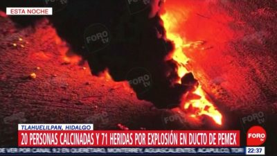 Horrifying Fireball Engulfs Ruptured Oil Pipeline in Mexico Killing 21