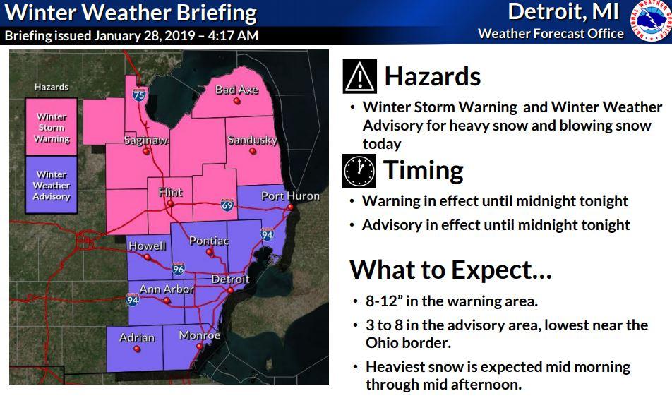 winter storm detroit