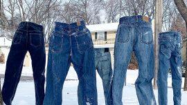 Below Freezing Temperatures Inspire the 'Frozen Pants' Challenge