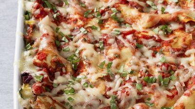 You Won't Miss the Meat in This Vegetable-Packed Lasagna