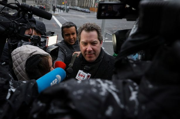 """Attorney for Joaquin Guzman, the Mexican drug lord known as """"El Chapo,"""" Jeffrey Lichtman arrives at the Brooklyn Federal Courthouse,"""