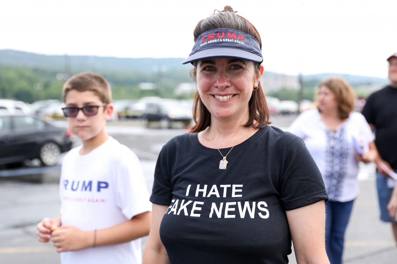Catrina Albo before a Make America Great Again rally