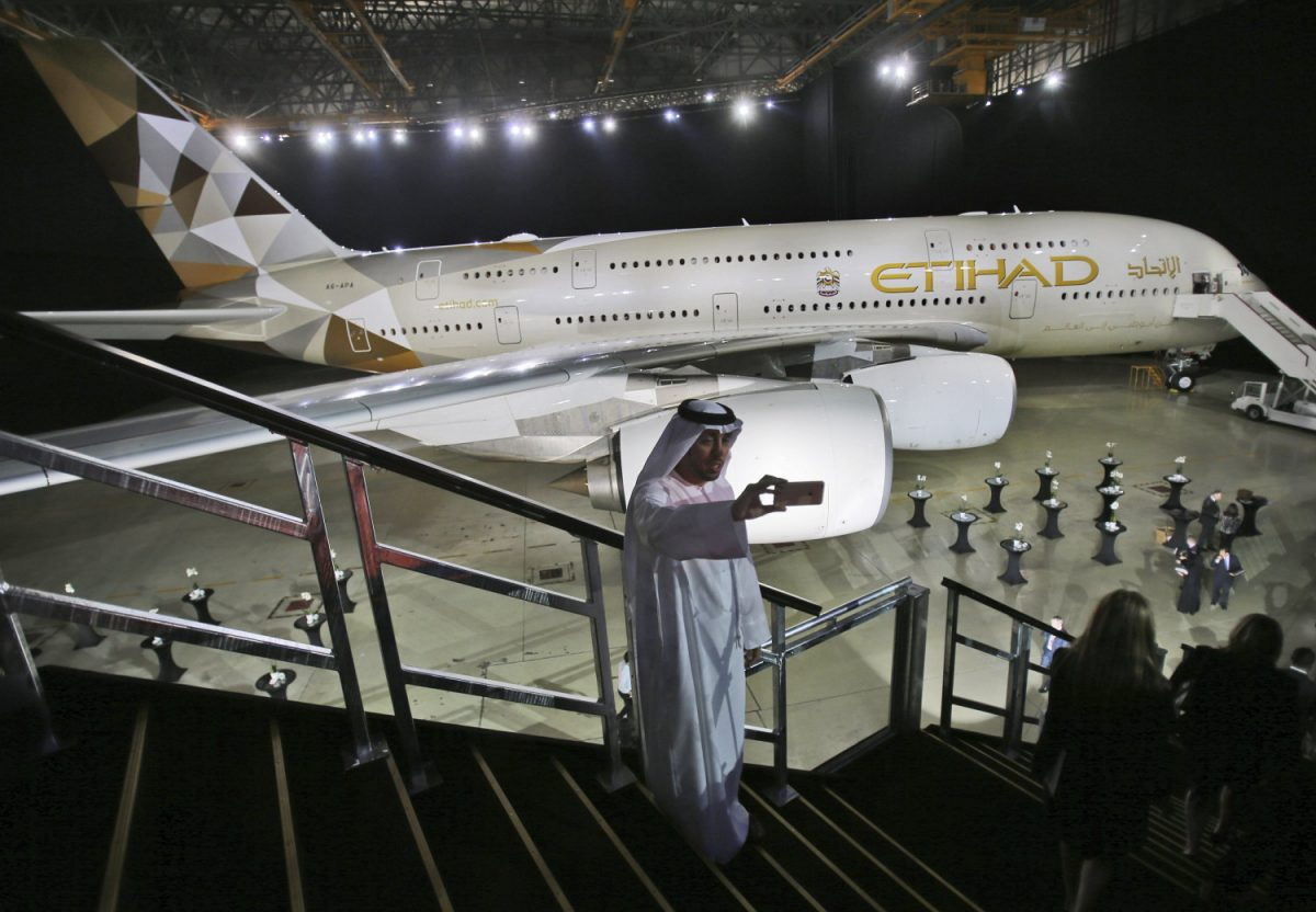 Etihad Airways A380 airbus