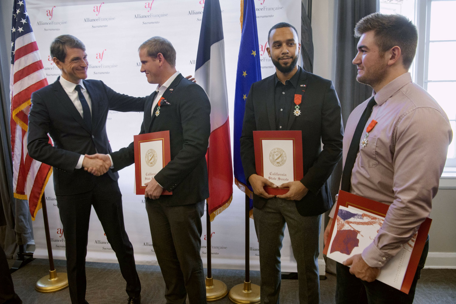 3 Men Granted French Citizenship for Thwarting Train Attack
