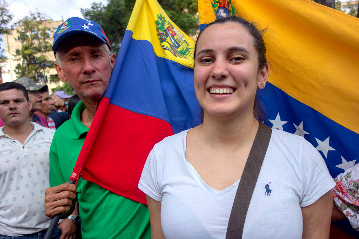 Jhuliana Hernandez smiles after crossing the border from Venezuela in Cúcuta, Colombia.