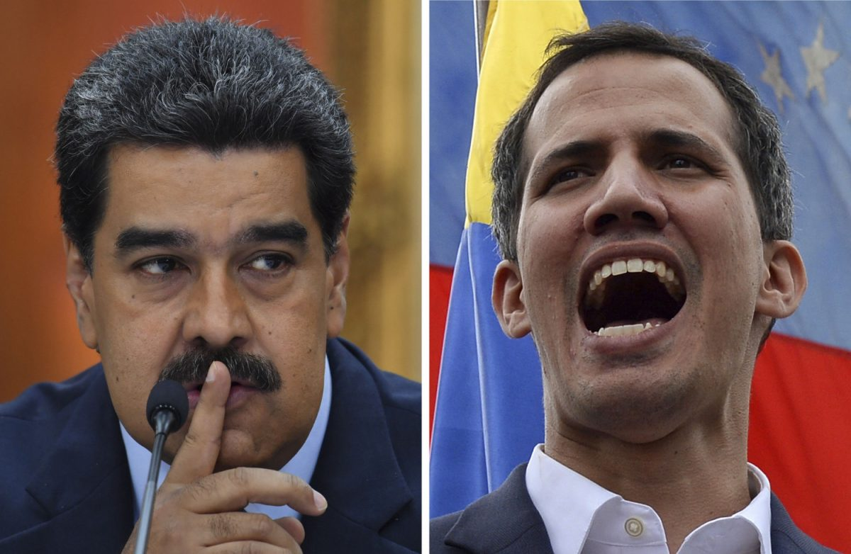 Nicolás Maduro (L) and Juan Guaidó (R)