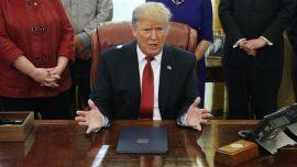 Trump Order Asks Federal Fund Recipients to Buy US Goods