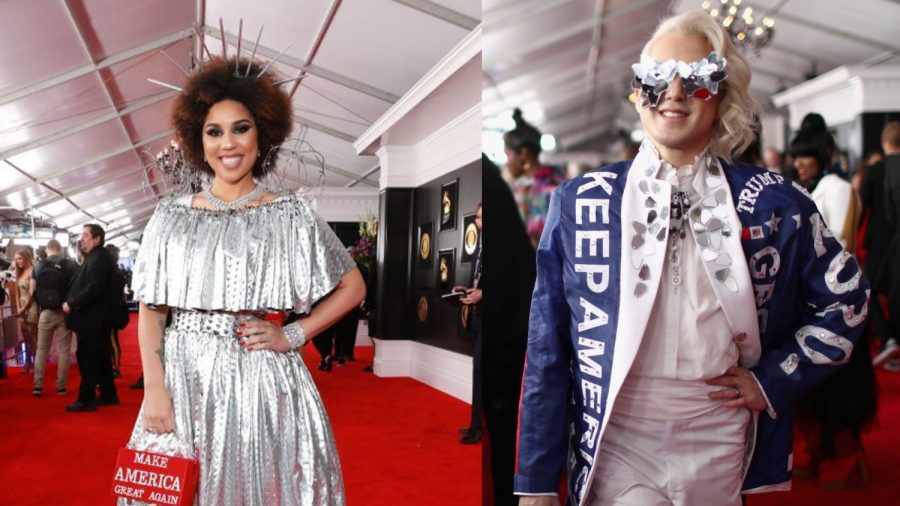 2 Singers Wear Their Pro-Trump Fashions on Grammy Carpet
