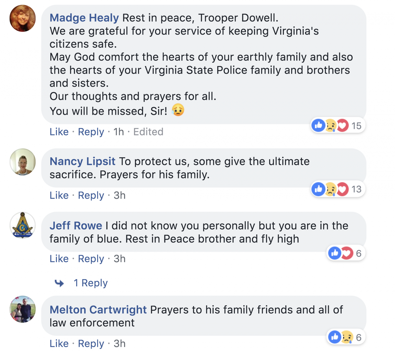 Virginia State Police Comment Section