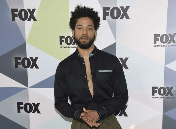 """Jussie Smollett, a cast member in the TV series """"Empire,"""" attends the Fox Networks Group 2018"""