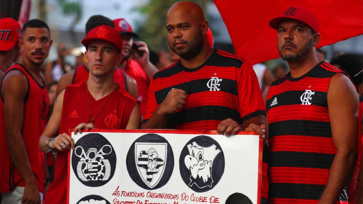Soccer fans of Flamengo soccer club