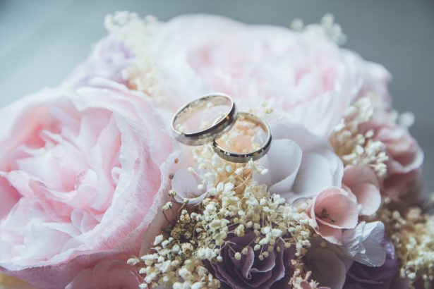 A pair of bridal rings.