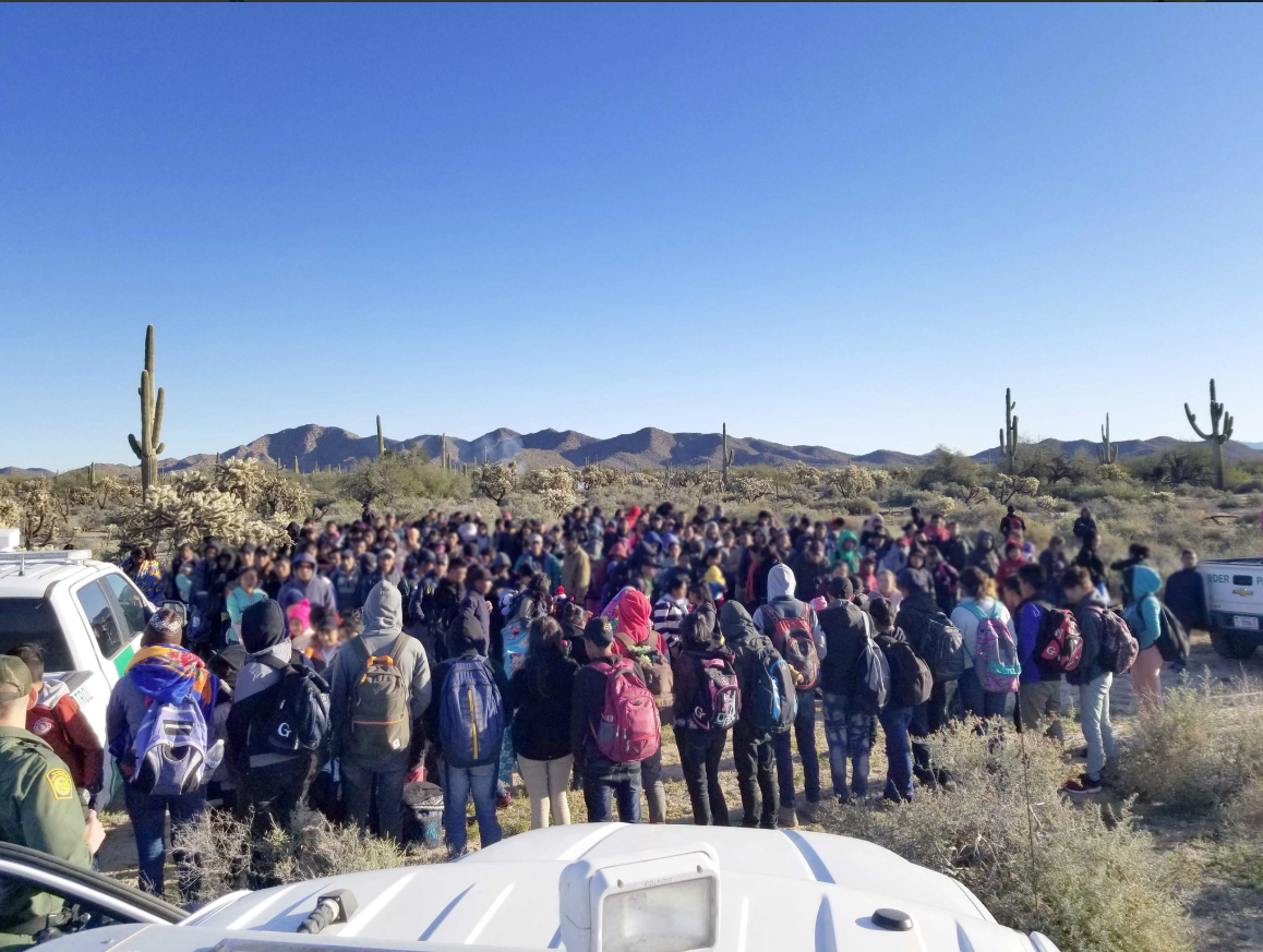 Central Americans were apprehended by Border Patrol agents