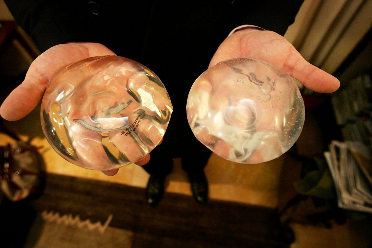 breast silicone implant gel