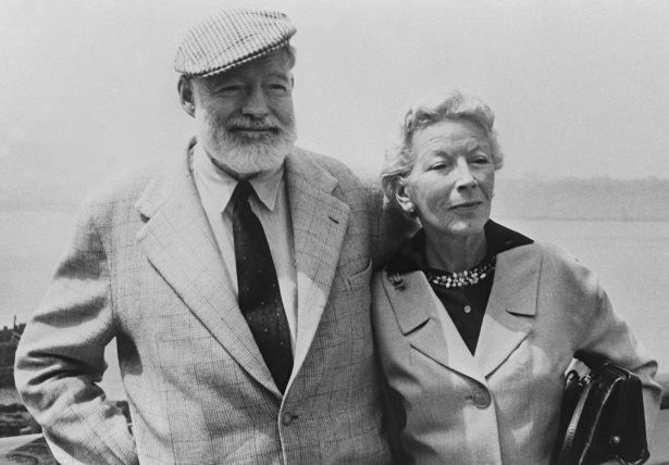 American writer Ernest Hemingway (L) with his wife